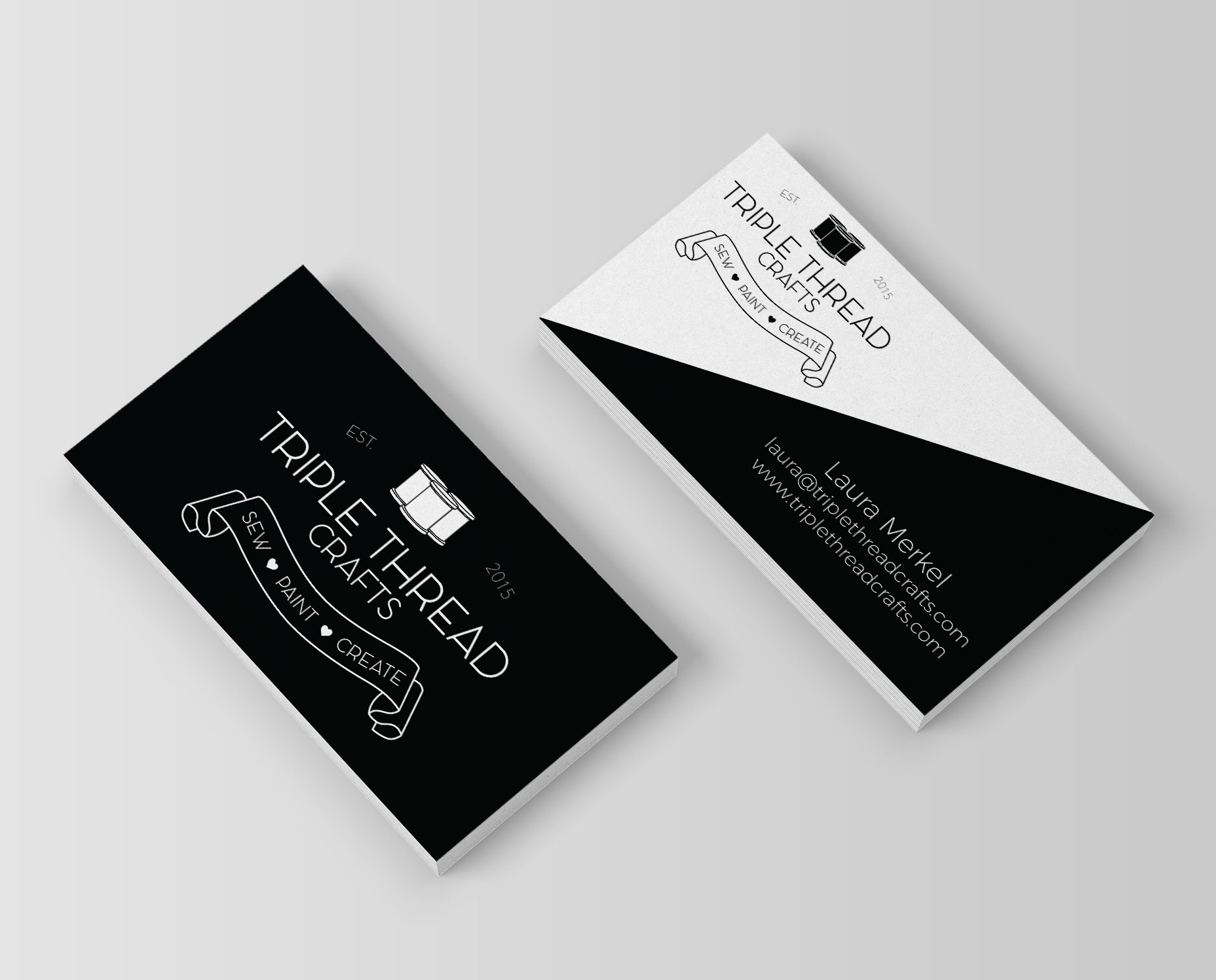 Triple Thread Crafts Business Cards