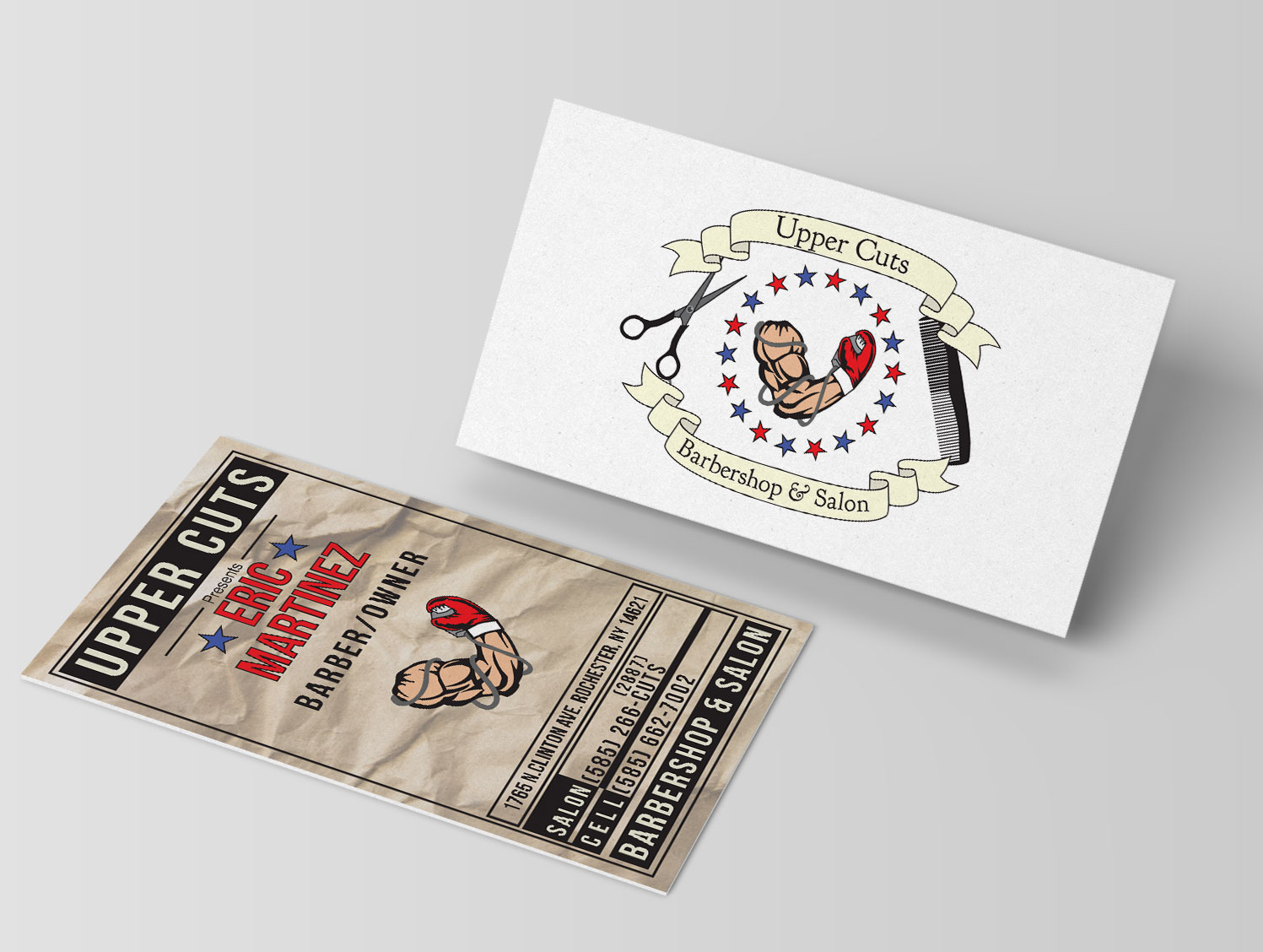 Uppercuts Barbershop & Salon Business Cards